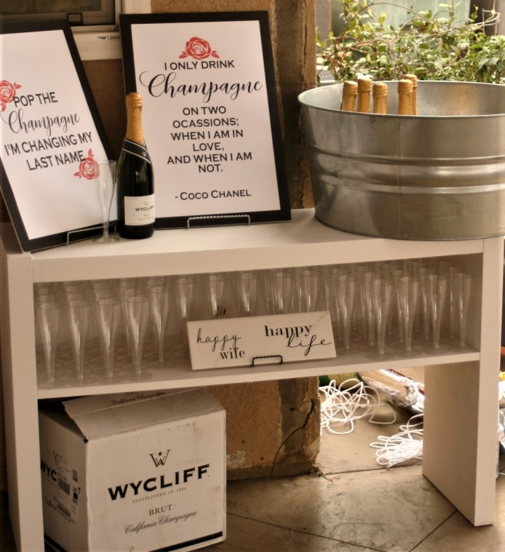 Easy DIY Champagne Bar